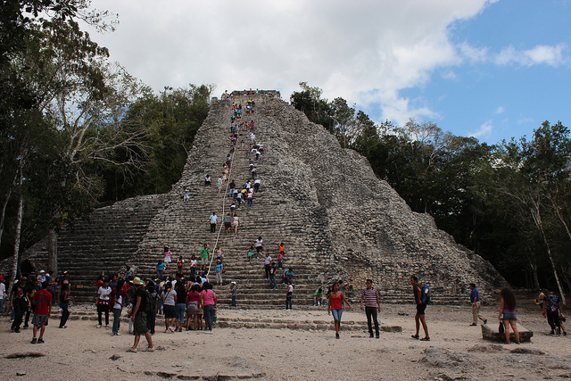 The Nohoch Mul pyramid in Coba