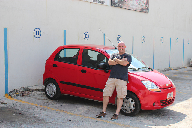 El Diablo Rojo, the rental car that we got to travel across Yukatan.