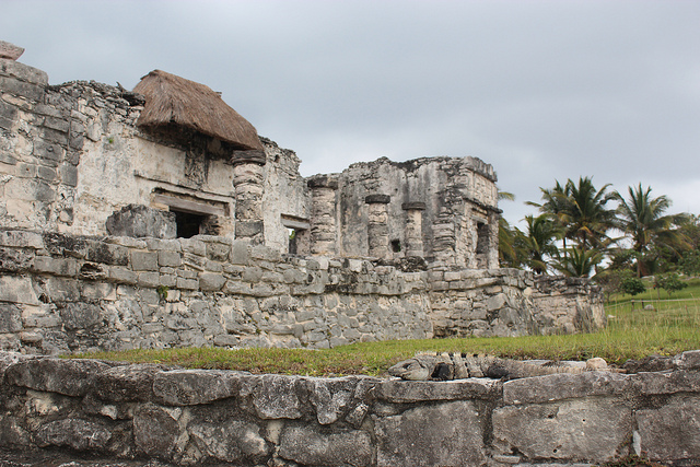 Templo del Dios Descendente (Temple of the Descending God) in Tulum.