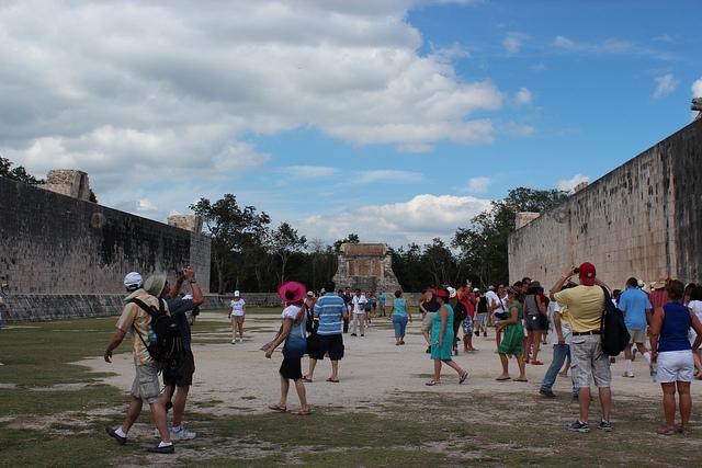 Mesoamerican ballgame court.
